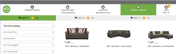 Navigate to Product Catalog